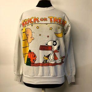 VTG Peanuts Trick or Treat Halloween Sweatshirt